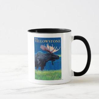 Moose at Night - West Yellowstone, Montana Mug