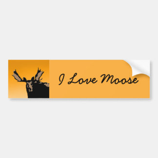 Moose at Sunset Bumper Sticker