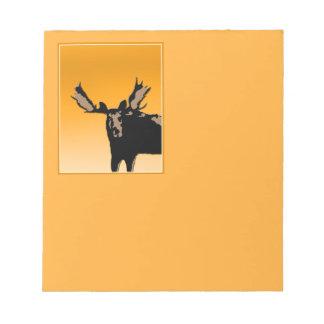 Moose at Sunset  - Original Wildlife Art Notepad