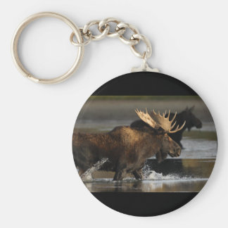 Moose Basic Round Button Key Ring