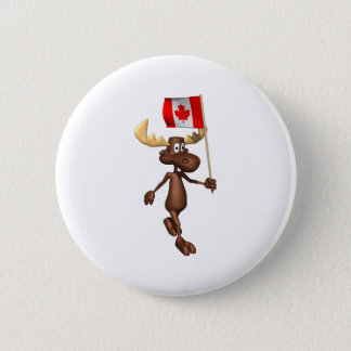 Moose Canada 6 Cm Round Badge