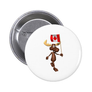 Moose Canada 6 Cm Round Badge