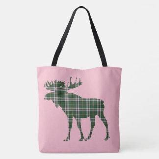 moose Cape Breton tartan Bag pink