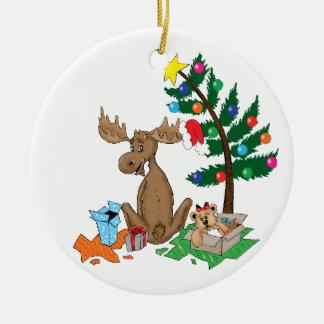 Moose Christmas Tree Ornament