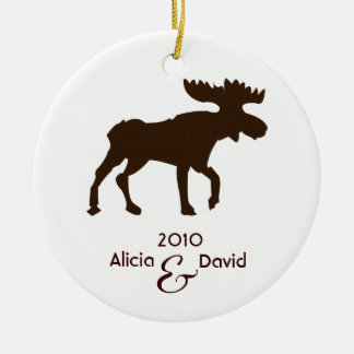 Moose Country Rustic Christmas Tree Ornament