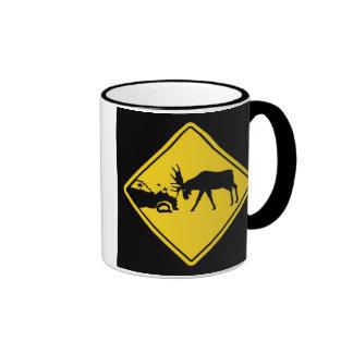 Moose Crossing Coffee Mugs