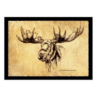 Moose Drawing Business Card Templates