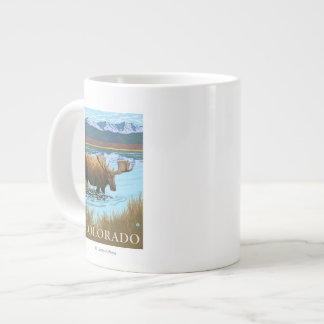 Moose DrinkingColorado Large Coffee Mug