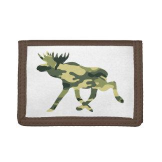 Moose / Elk Woodland Camouflage / Camo Trifold Wallets