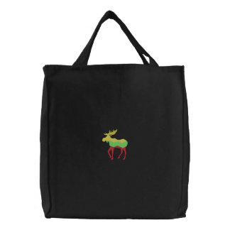 Moose Embroidered Tote Bags
