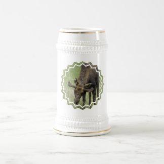 Moose Foraging  Beer Stein Coffee Mug
