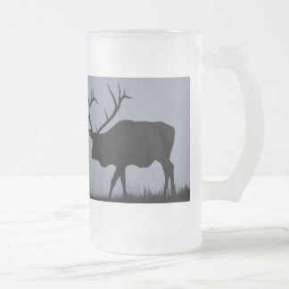 MOOSE FROSTED GLASS BEER MUG