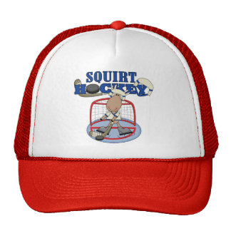 Moose Goalie Squirt Hockey Tshirts and Gifts Cap