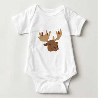 moose head baby bodysuit