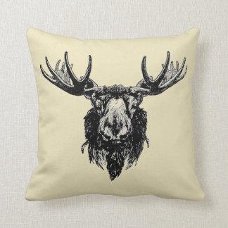 Moose head cushion