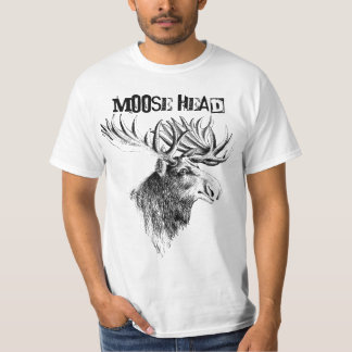 Moose Head Humor Fun T - Shirt