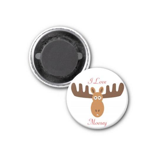Moose Head_I Love Moosey Magnet