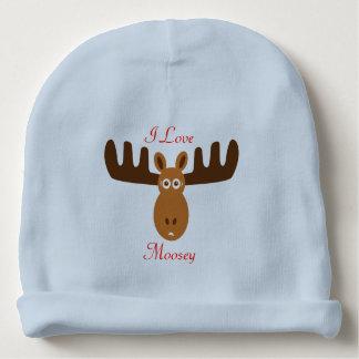 Moose Head_I Love Moosey_whimsical & humorous Baby Beanie
