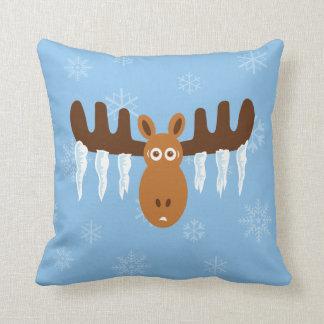 Moose Head_Icicle Antlers Cushion