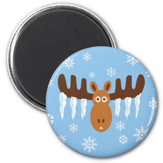 Moose Head_Icicle Antlers Refrigerator Magnet
