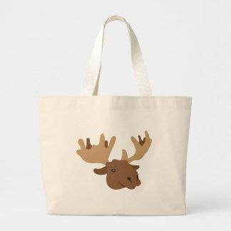 moose head jumbo tote bag