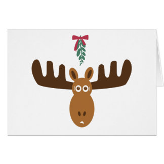 Moose Head_Meet Me Under The Mooseltoe! Greeting Card