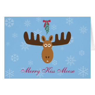 Moose Head_Merry Kiss Moose_Happy Gnu Year! Greeting Card