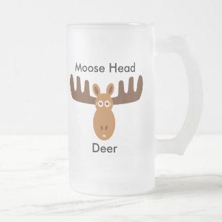 Moose Head_Moose Head Deer Frosted Glass Mug