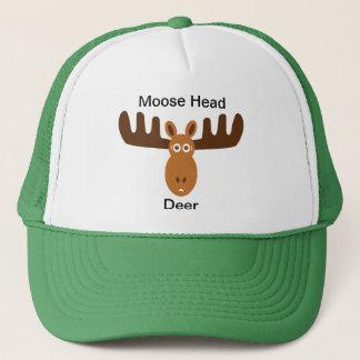 Moose Head_Moose Head Deer Trucker Hat