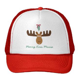 Moose Head_Mooseltoe_Merry Kiss Moose Trucker Hats