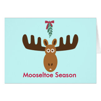 Moose Head_Mooseltoe Season Greeting Card