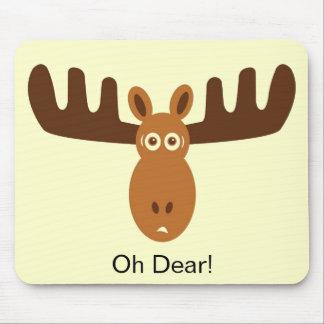 Moose Head_Oh Dear Mouse Mats