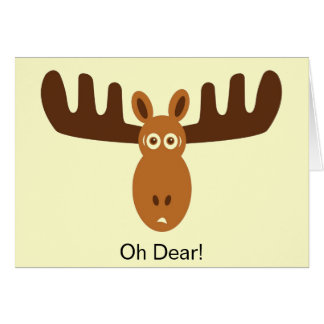 Moose Head_Oh Dear! Someone Forgot Your Birthday Greeting Card