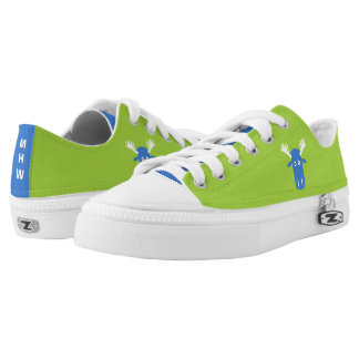 Moose Head Pop Art custom monogram low tops Printed Shoes