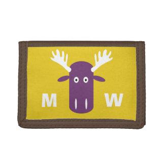 Moose Head Pop Art custom monogram wallets
