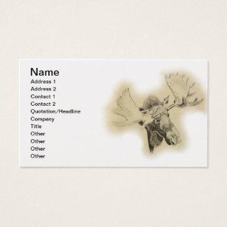Moose Head Sketch Business Card