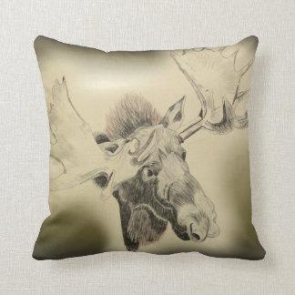 Moose Head Sketch Cushion