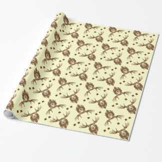 Moose head wrapping paper