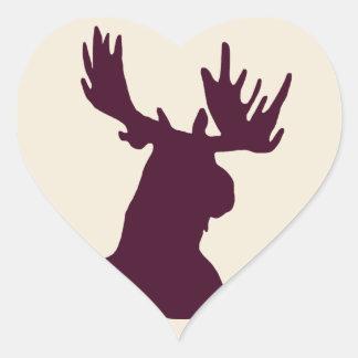 Moose Heart Sticker