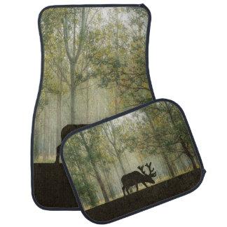 Moose in Forest Illustration Car Mat