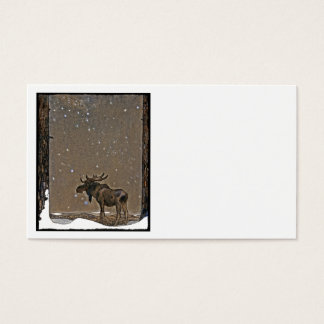 Moose in Snow Business Card