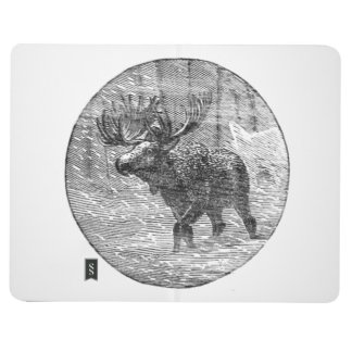Moose in Snow Emblem Journal