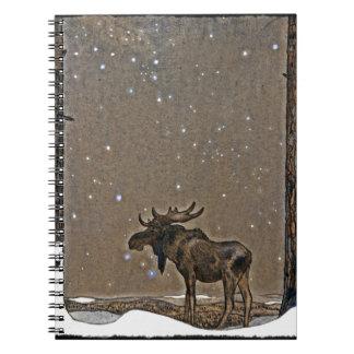 Moose in Snow Notebook