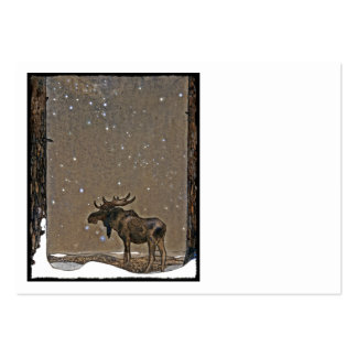 Moose in Snow Pack Of Chubby Business Cards