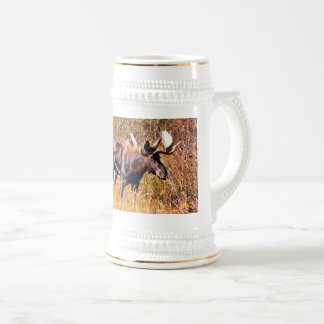 Moose in the autumn beer stein