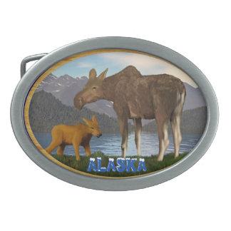 Moose in the Meadow Belt Buckles