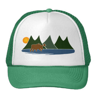 Moose in the Mountains Cap