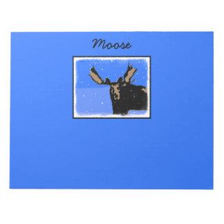 Moose in Winter  - Original Wildlife Art Notepad