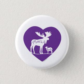 Moose Lamb Love 3 Cm Round Badge
