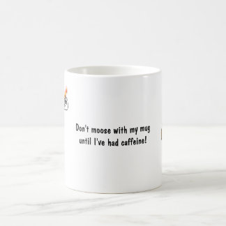 Moose Menora gift mug! Hanukkah mug. Basic White Mug